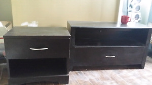 Tv stand and end table (pair)