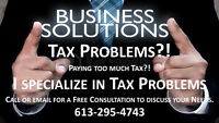 TAX PROBLEMS - I SPECIALIZE in SAVING YOU TAXES!