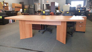 Used Boat shaped boardroom table