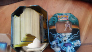 200 pokemon cards for $15 tin for $10 and $5 for pin