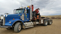 2001 Freightliner FLD 120 w/ 6 ton Knuckle Picker + 30 ton winch