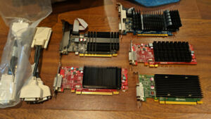Lot of 5 Graphic Cards