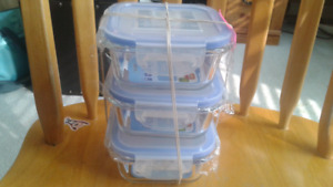 Glass containers x 3! Brand new.