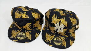 Blue Jays and New York MLB Baseball 59 Fifty Gold Butterflies