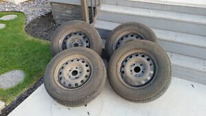 Winter Tires and Steel Rims for Dodge Grand Caravan SE