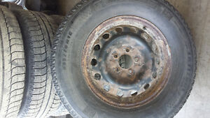 4 Used tires and rims