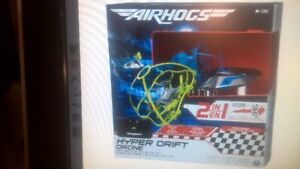 Air Hogs 2-in-1 Hyper Drift Drone for High Speed Racing and Flyi