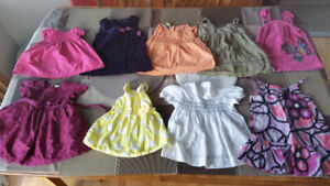 Baby girl clothes size 9 to 12 months in excellent condition