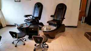 4 Pedicure Chairs 1yr Old for a Hell of a Deal
