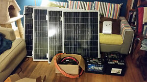 400W solar panel kit batteries, charge controller and wiring