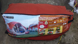 8 person tent with nice bag. Enjoy Camping