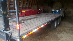 remorque 22 pieds total 18 plancher 14 000 lbs a sellette