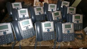12 Cisco Linksys Voip Phones