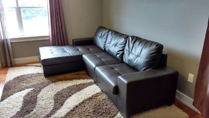 Modern 3- Piece Leather Sectional Sofa