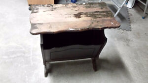 Antique Magazine table solid wood excellent condition to restore