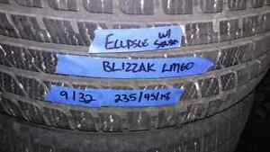 Winter tire package  mitsubishi with sensors 235/45/18 Strathcona County Edmonton Area image 2