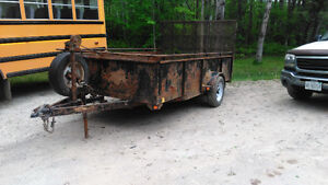 12' Utility Trailer Full 12' X 83'' inside box.