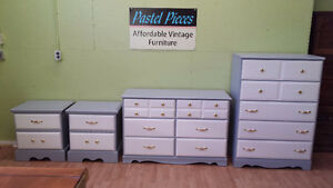 Professionally painted 4 piece two tone bedroom set fr $189 a pc