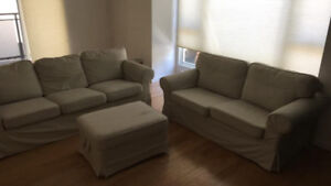 Couches and Ottoman for Sale