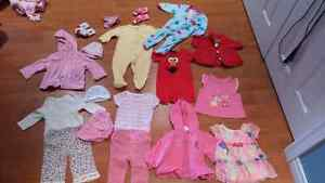 3-6 month clothing lot girls