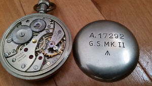 Early 1940's Military issued Rolex pocket watch in gun metal St. John's Newfoundland image 2