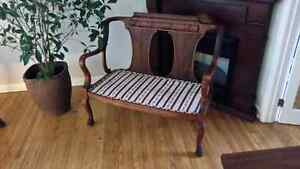 Beautiful antique chair and bench. Kingston Kingston Area image 1