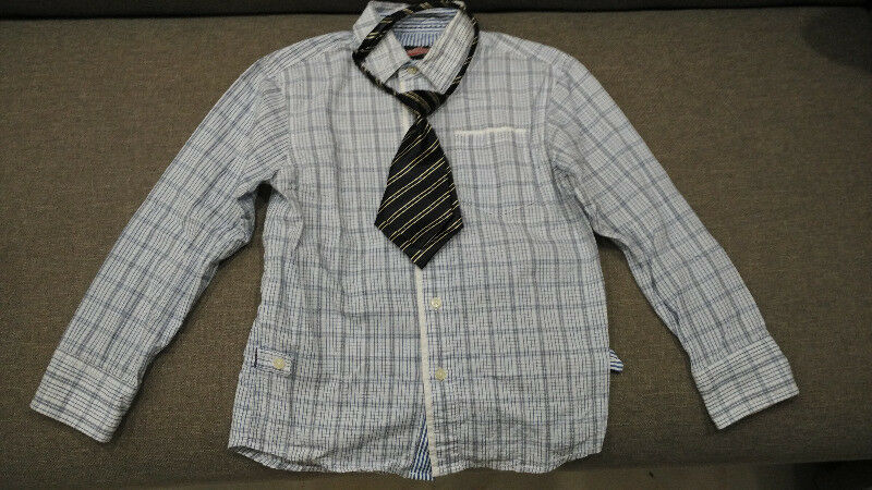 Preloved Children's Long Sleeve Shirt + Small Tie
