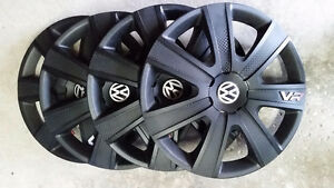 Winter tires wheel covers with VW insert