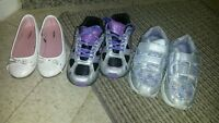 3 pairs of girls shoes size 12 and 13