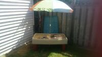 Step By - Water Table with Umbrella and Cover - Great Condition