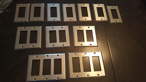 wall plates brushed nickle