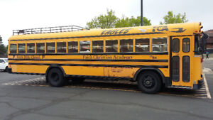 Large School Bus for a conversion project.