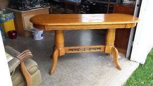 Oval solid wood table for sale