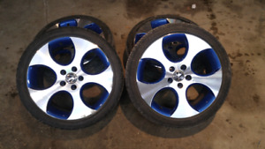 """Vw 18"""" rims and tires"""