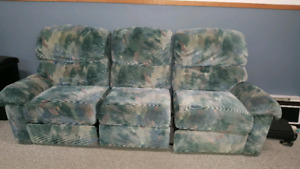 Sofa & Love Seat for Sale $175 for both. Green & Gray!