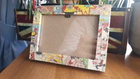 Hand Made Beano Decoupage Frame