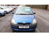 TOYOTA YARIS 1.0 S 3 DOOR MET BLUE ONLY 80000 MILES CHEAP INSURANCE ECONOMICAL