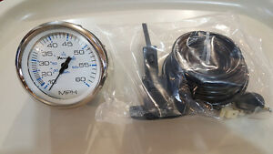 Faria Chesapeake White S/S speedometer Part #33811