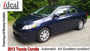 2013 Toyota Corolla CE---Lowest Priced 2013  in the Maritimes!!
