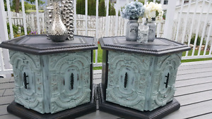 Beautiful vintage end tables