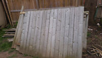 FREE fence panels and posts