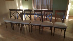 Cherry wood dining set with 6 chairs Windsor Region Ontario image 2
