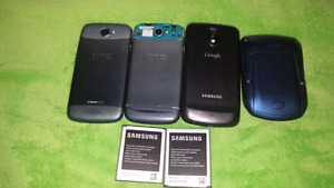 For sale, cellphones for parts. HTC. BlackBerry. Samsung Google.
