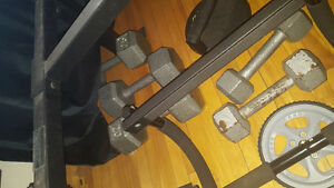 Selling weight bench and weights , best offer really Belleville Belleville Area image 2