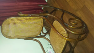 MADE IN ROMANIA ANTIQUE BENTWOOD ROCKING CHAIR