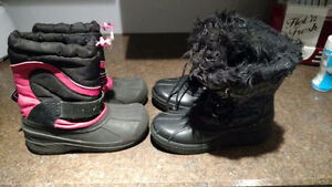 Snow boots - size 3 girls Windsor Region Ontario image 1