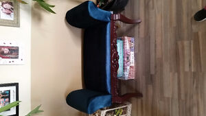 HAND CARVED AZURE BENCH