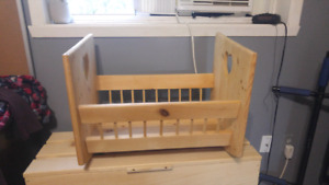 Unfinished baby bed