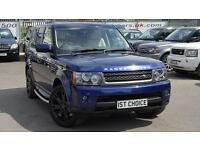2009 LAND ROVER RANGE ROVER SPORT TDV6 SE BALI BLUE CREAM LEATHER OVERFINCH