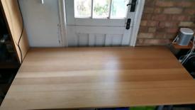 Ikea office table light oak 120cm long 80cm wide